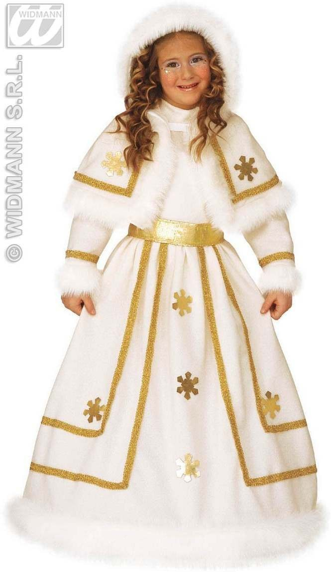 Snow Princess - Dress Hoop, Belt, Hooded Fancy Dress (Royalty)