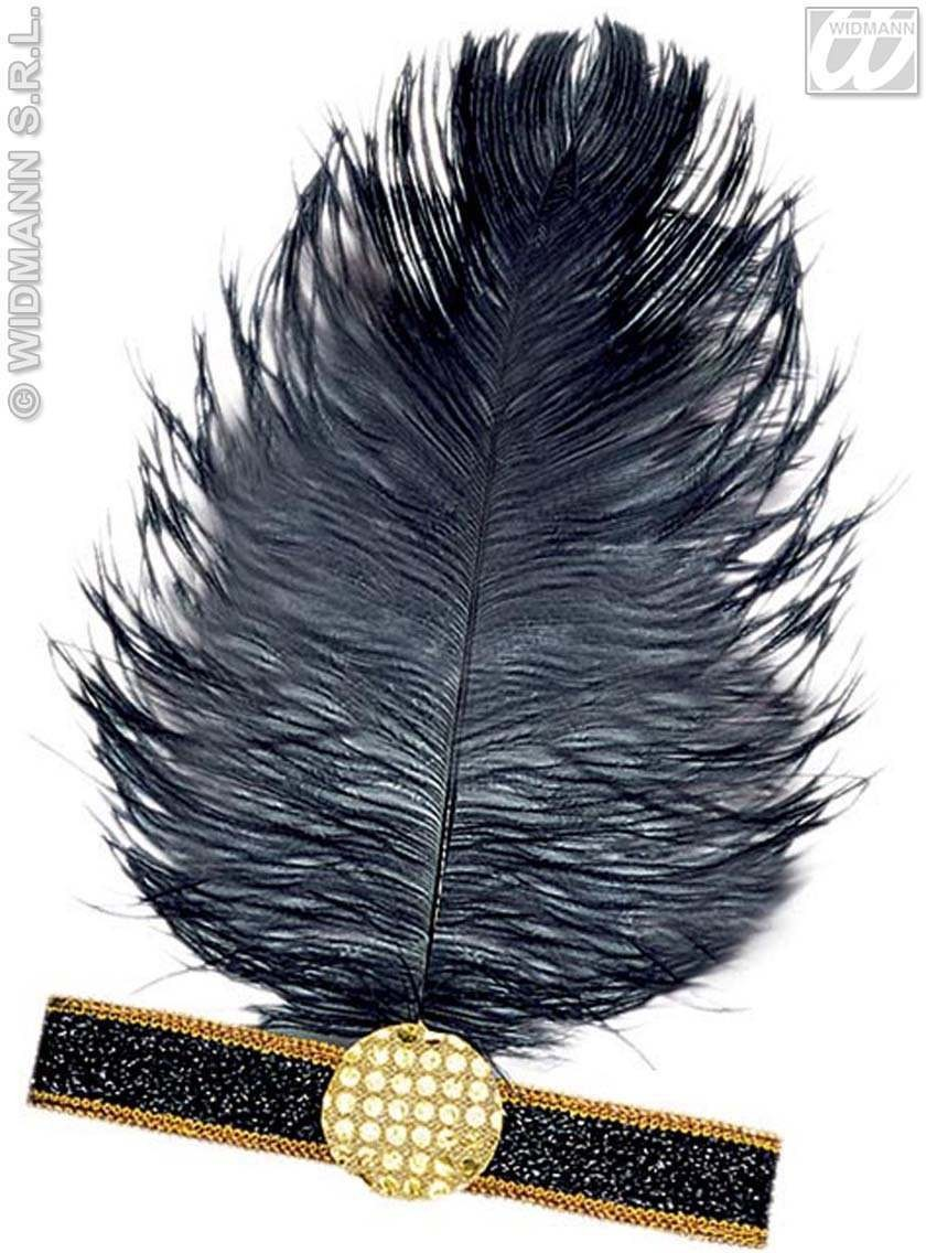 Charleston Headband With Feather - Fancy Dress (1920S)