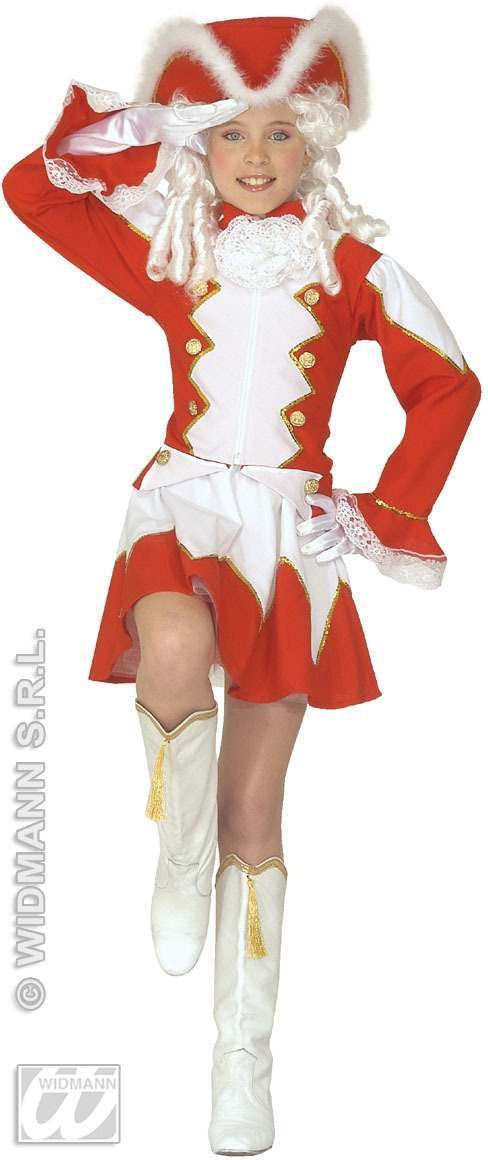Majorette Costume Kids Red Fancy Dress Costume Age 8-10 (Sport)