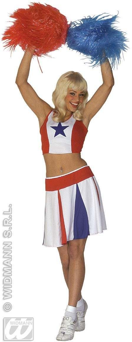 Cheerleader Adult Fancy Dress Costume Ladies (Sport)