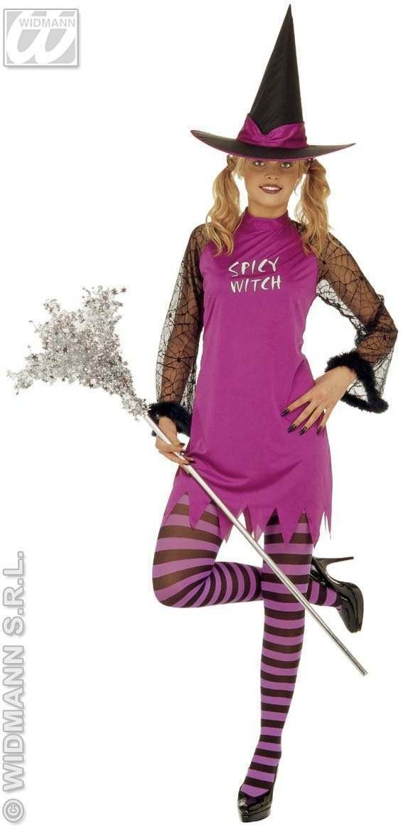 Spicy Witch Adult Costume Pple/Ornge/Green/Pink Costume (Halloween)