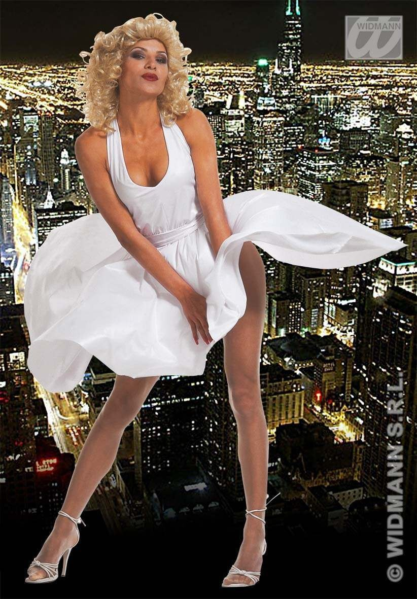 Marilyn Dress Adult Fancy Dress Costume Ladies (Film)