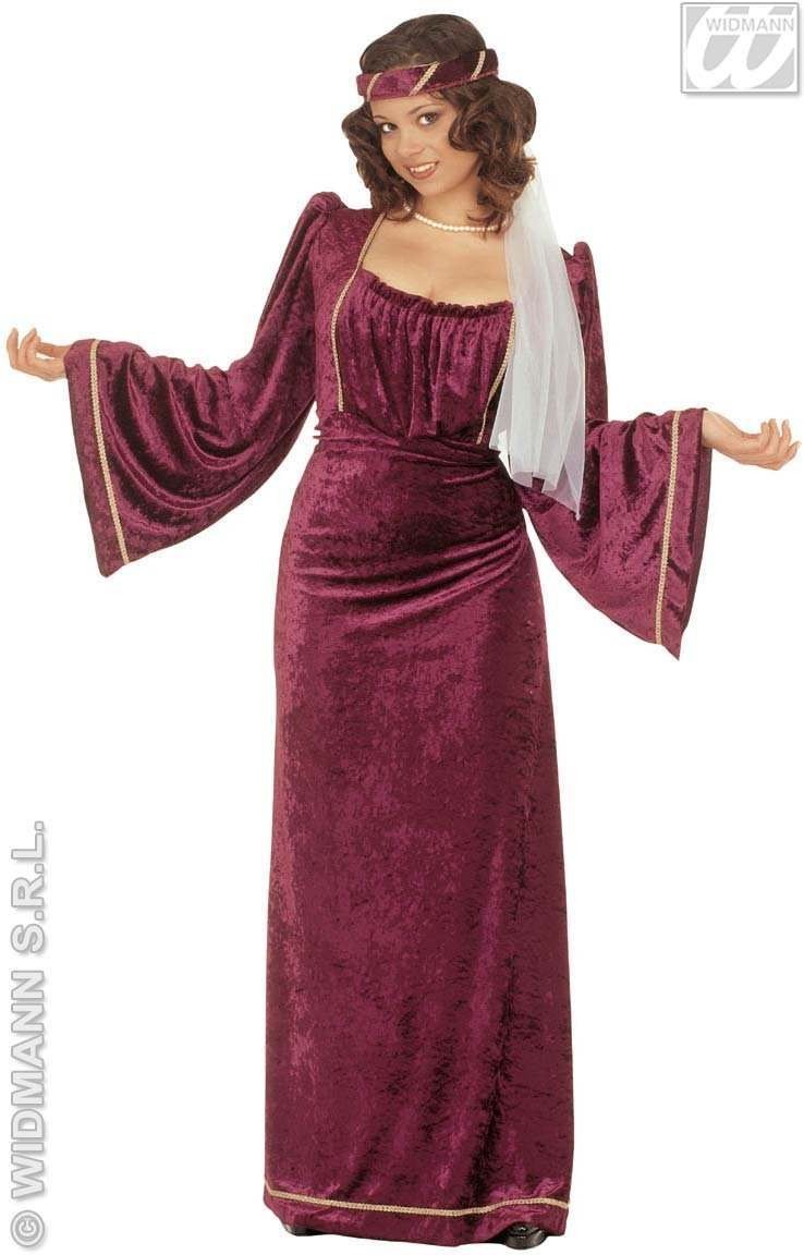 Giulietta Adult Fancy Dress Costume Ladies (Medieval)