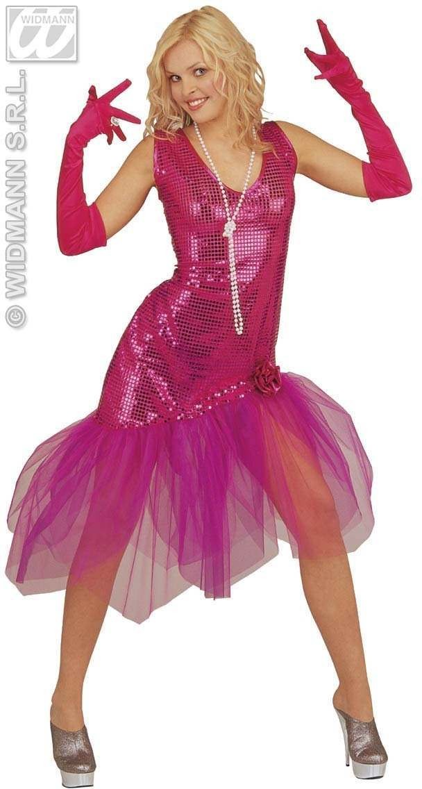 Sissy Dress Pink Adult Fancy Dress Costume Ladies