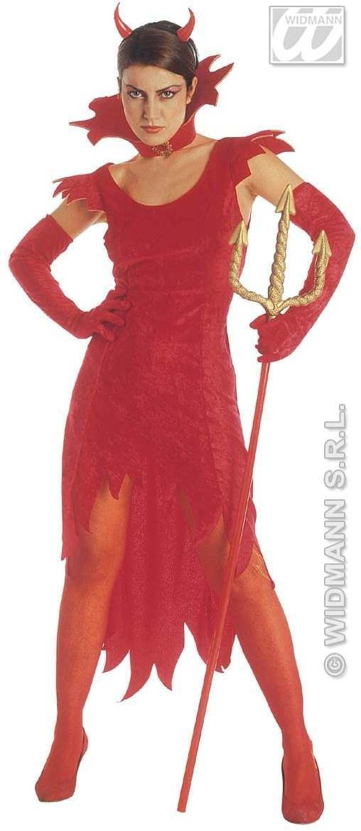 Devil Lady Adult Fancy Dress Costume Ladies (Halloween)