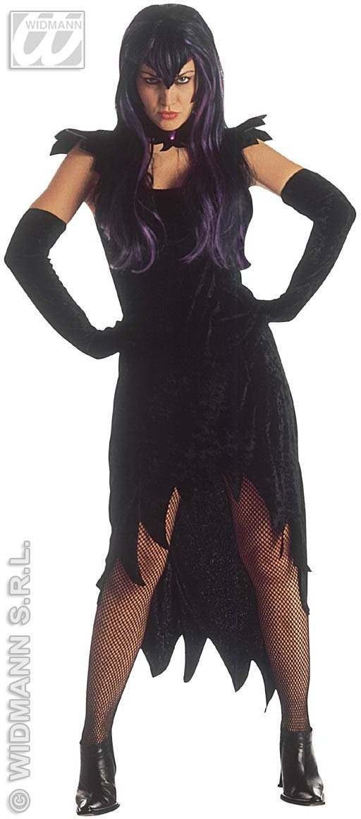 Dark Mistress Adult Fancy Dress Costume Ladies (Halloween)