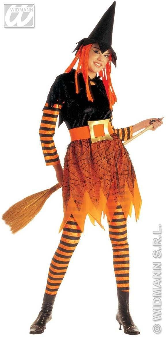 Funky Witch Adult Fancy Dress Costume Ladies (Halloween)