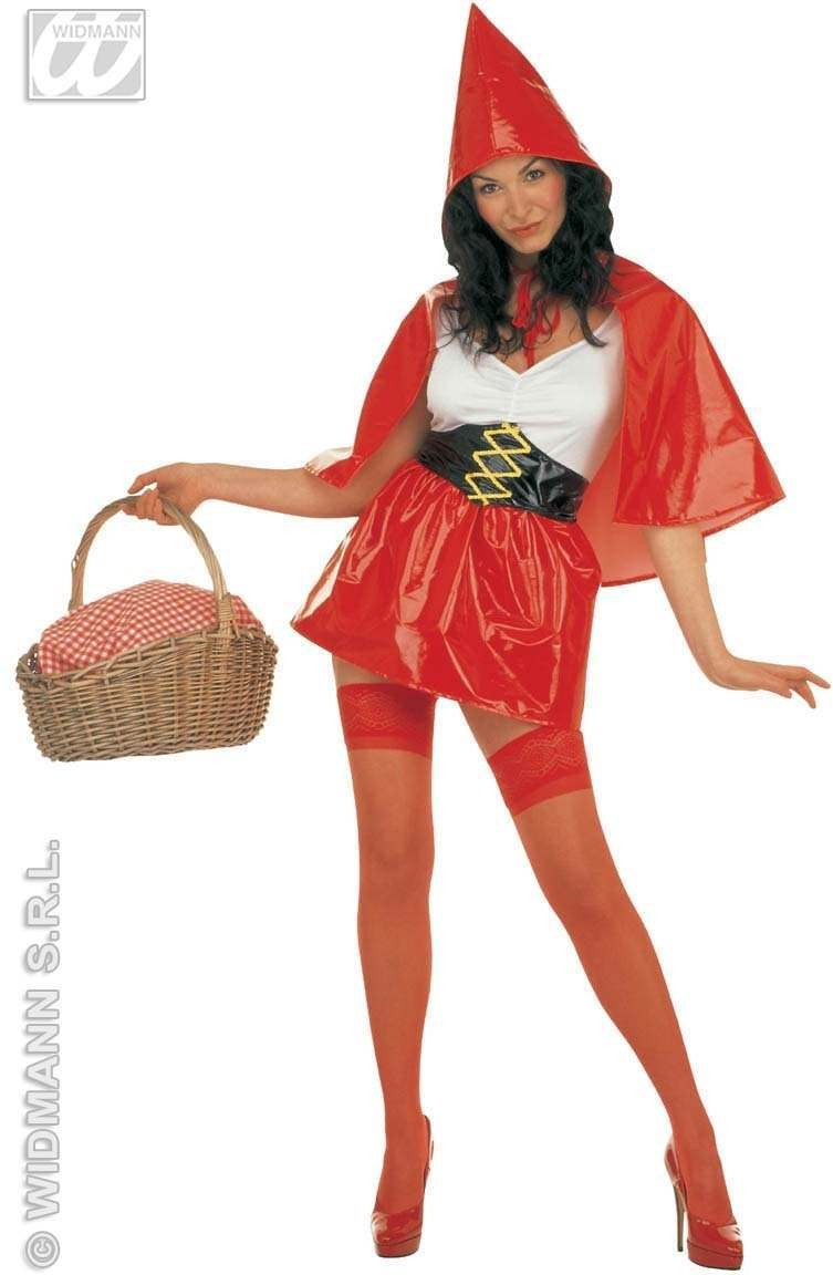 Red Riding Hood Costume Adult Pvc Fancy Dress Costume (Cartoon)