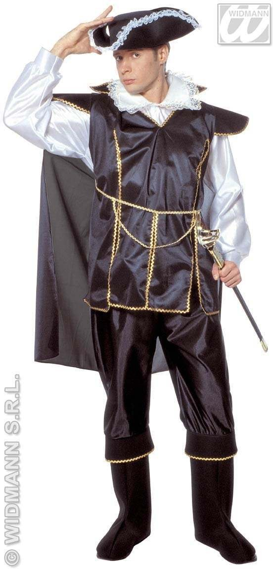 Corsair Of The Seas / Captain Black Fancy Dress Costume (Pirates)