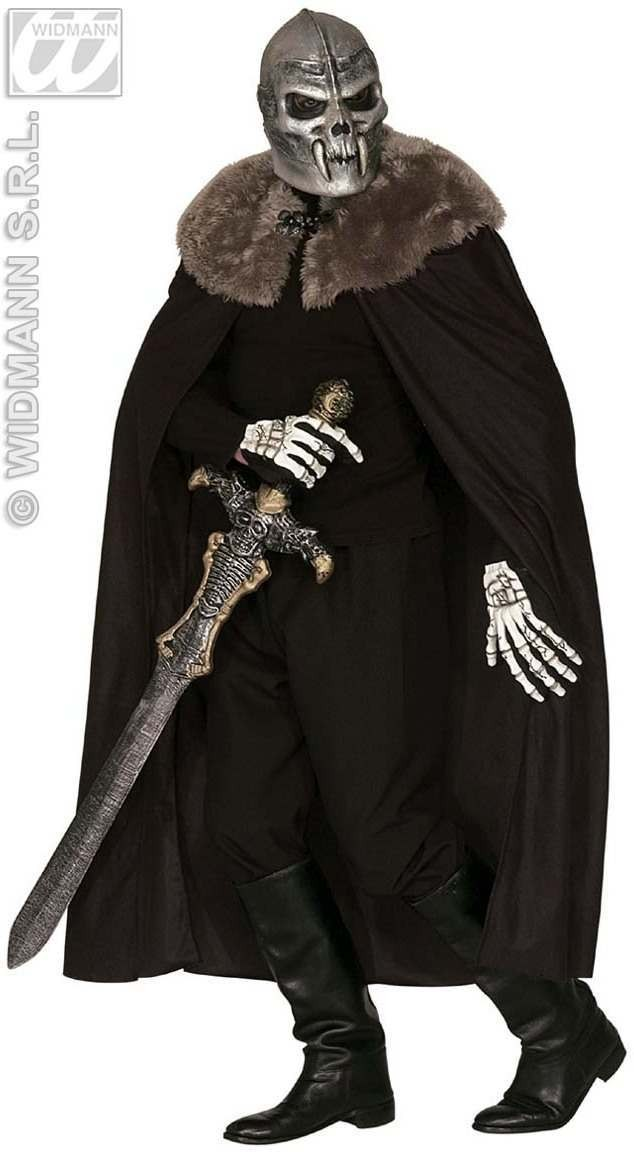 Black Warrior Cape W/Plush Collar 140Cm Costume (Medieval)