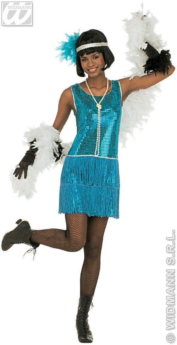 Deluxe Flapper Adult Fancy Dress Costume Ladies (1920S)