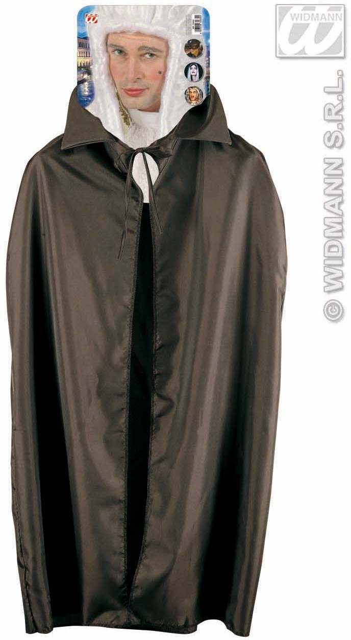 Cape Black 115Cm - Fancy Dress (Halloween)