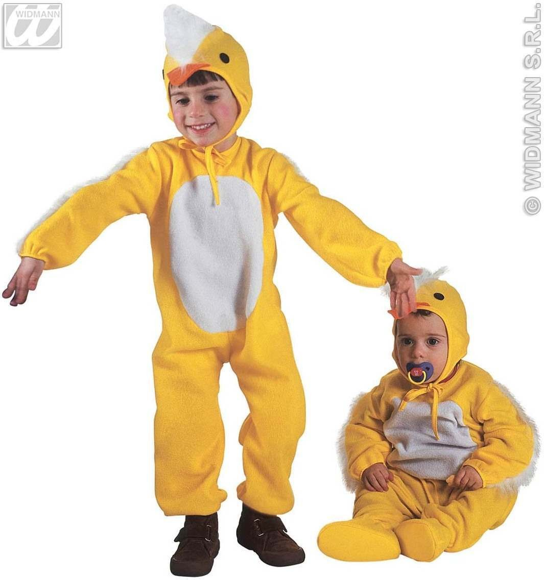 Little Chick Jumpsuit & Headpiece 3-4 Costume (Animals)