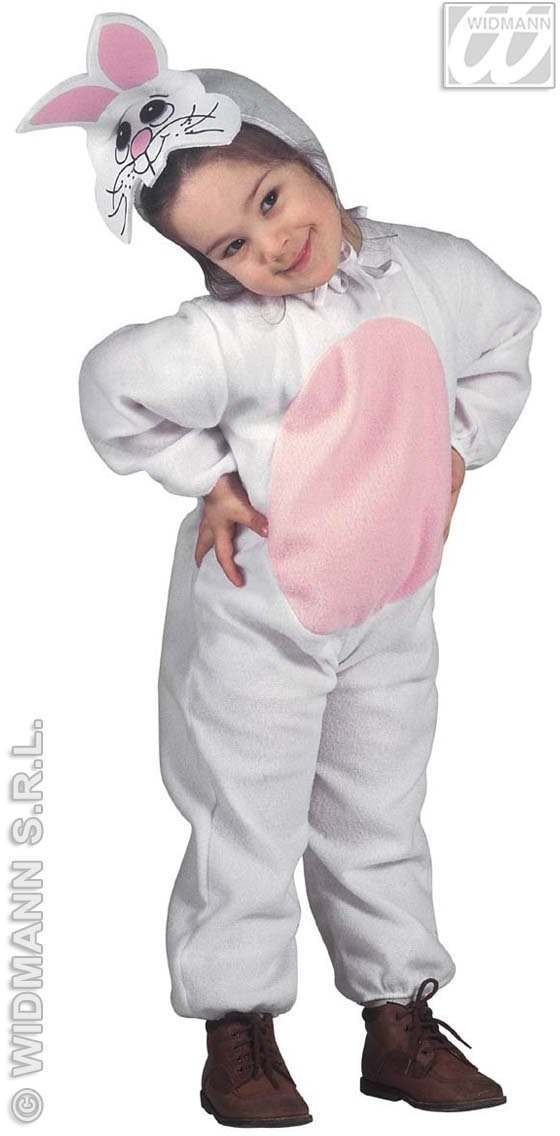 Bunny - Jumpsuit & Headpiece W/Mask Costume Age 2-3 (Animals)