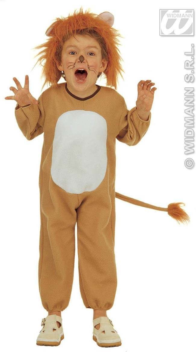 Lion & Jumpsuit & Headpiece, Costume Age 2-3 (Animals)
