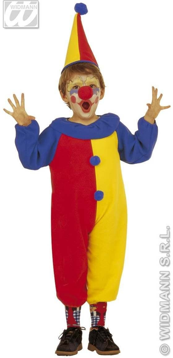 Clown & Jumpsuit & Hat, Soft & Cute Fancy Dress Age 2-3 (Clowns)