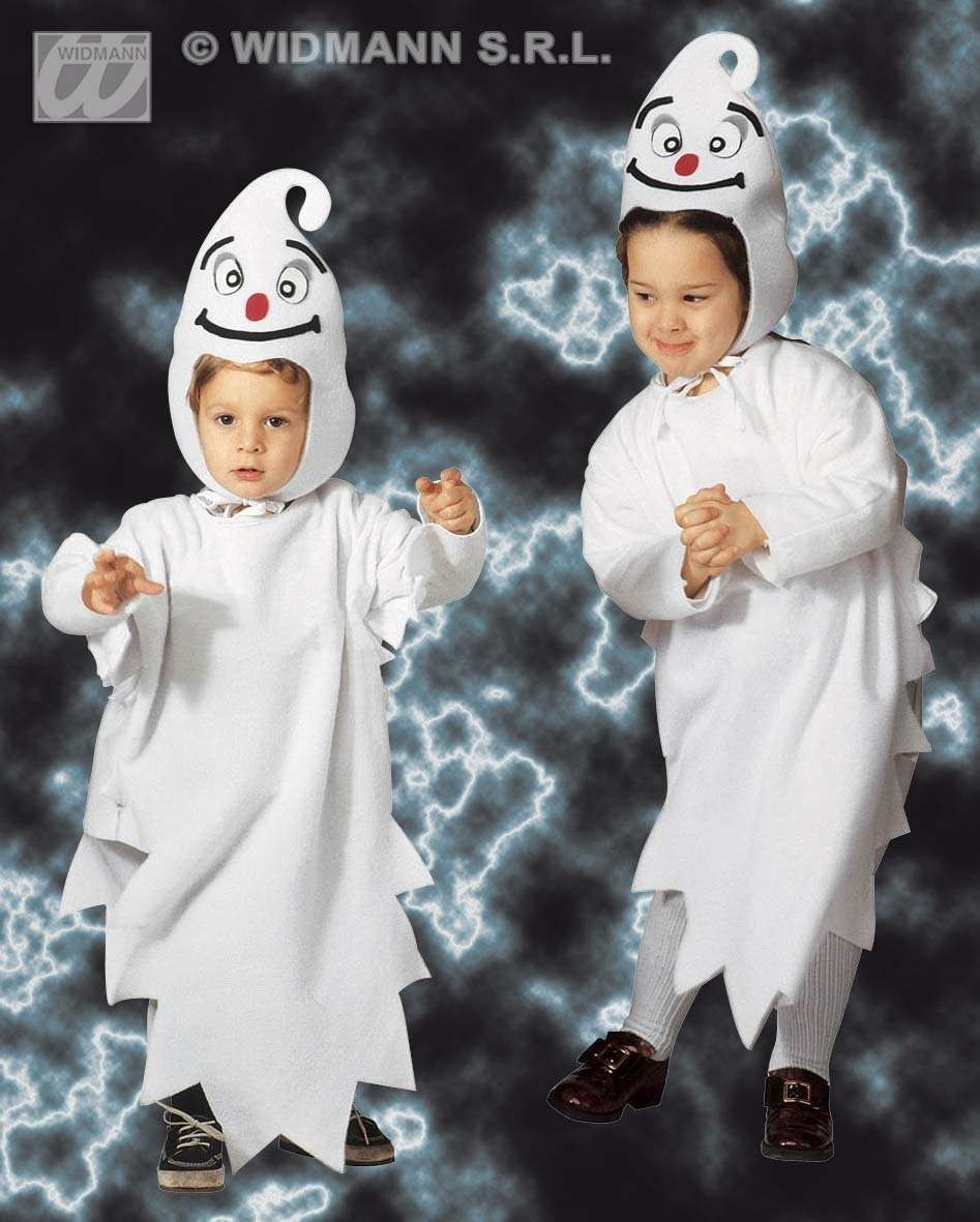Ghost - Jumpsuit & Headpiece W/Mask Costume Age 2-3 (Halloween)
