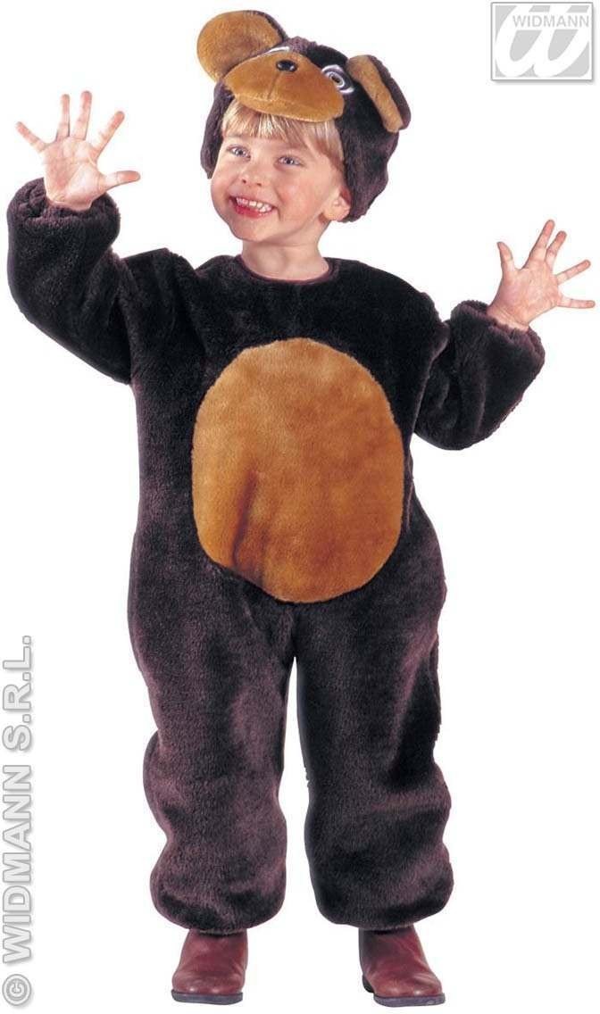 Plush Little Bear Costume Child 4-5 Fancy Dress Costume (Animals)