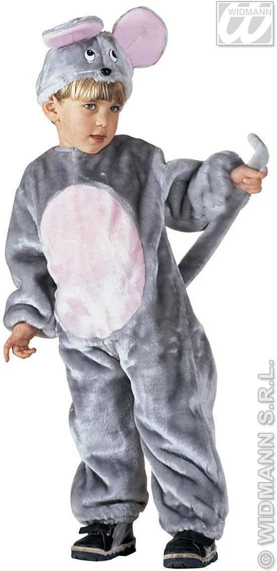 Plush Mouse - Jumpsuit & Headpiece Costume Kids Age 3-4 (Animals)