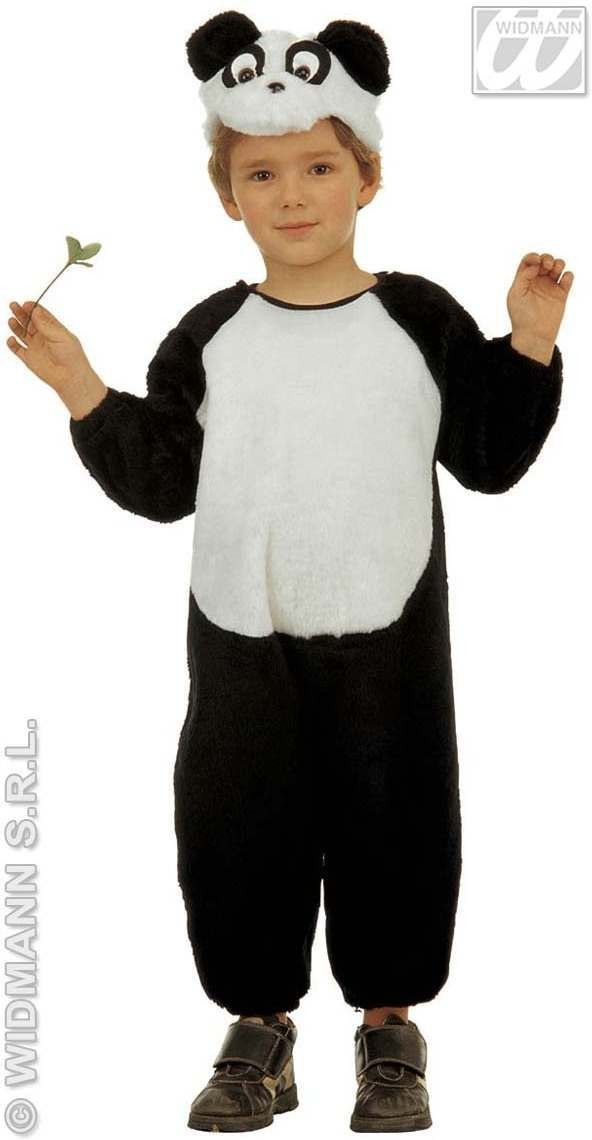 Plush Little Panda Jumpsuit & Headpiece 4-5 Fancy Dress (Animals)