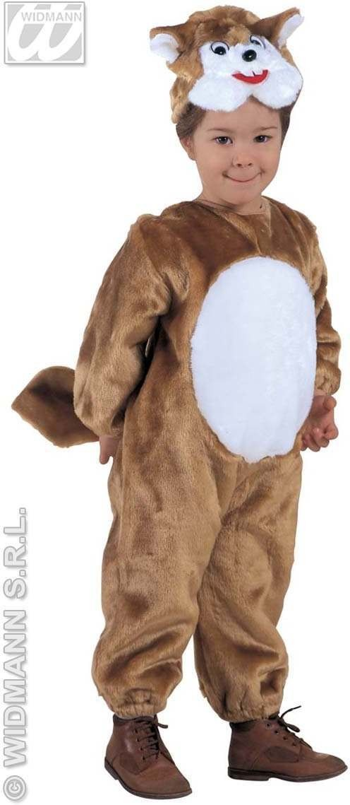 Plush Little Squirrel Costume Child 3-4 Costume (Animals)