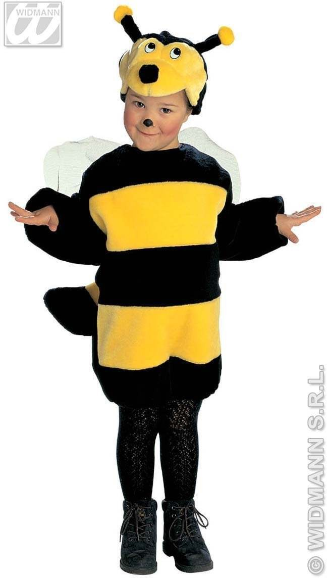 Plush Bee - Jumpsuit & Headpiece Costume Kids Age 3-4 (Animals)