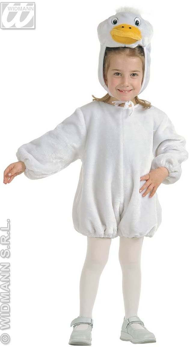Plush Goose - Jumpsuit & Headpiece Costume Kids Age 3-4 (Animals)