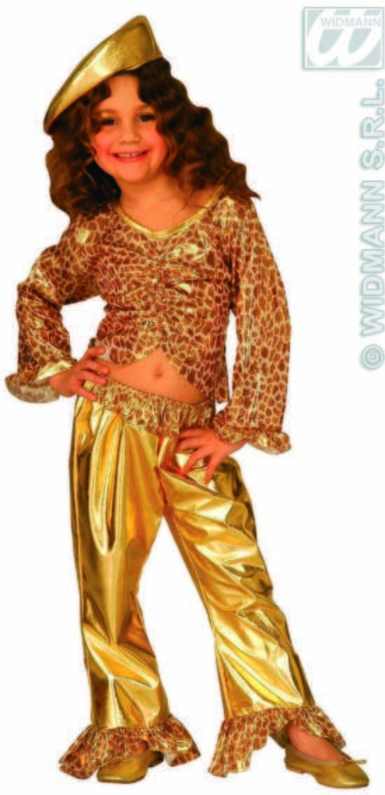 Jazz Cool Girl Costume Gold/Silver 5-7 Costume Girls