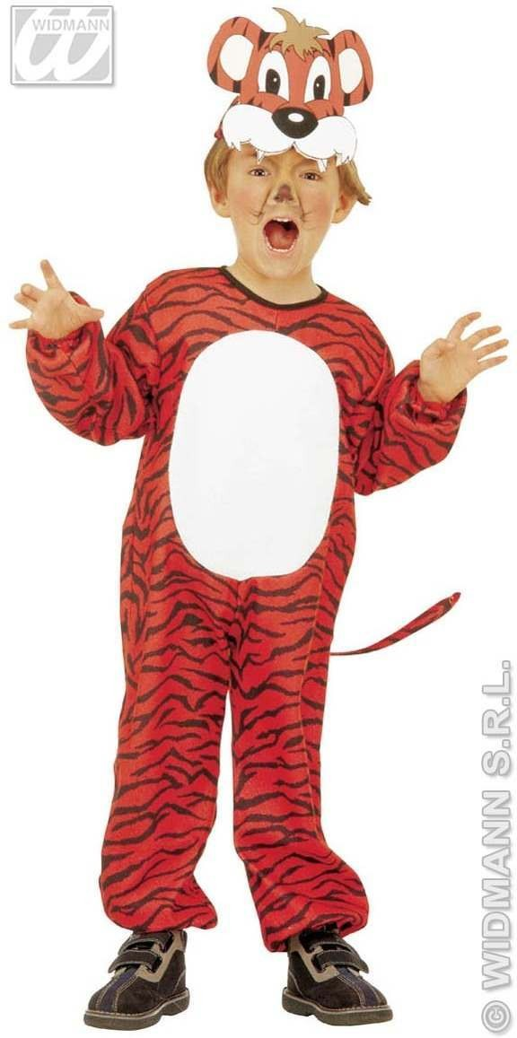 Tiger - Jumpsuit, Headpiece W/Mask Soft & Cure  Age 2-3 (Animals)