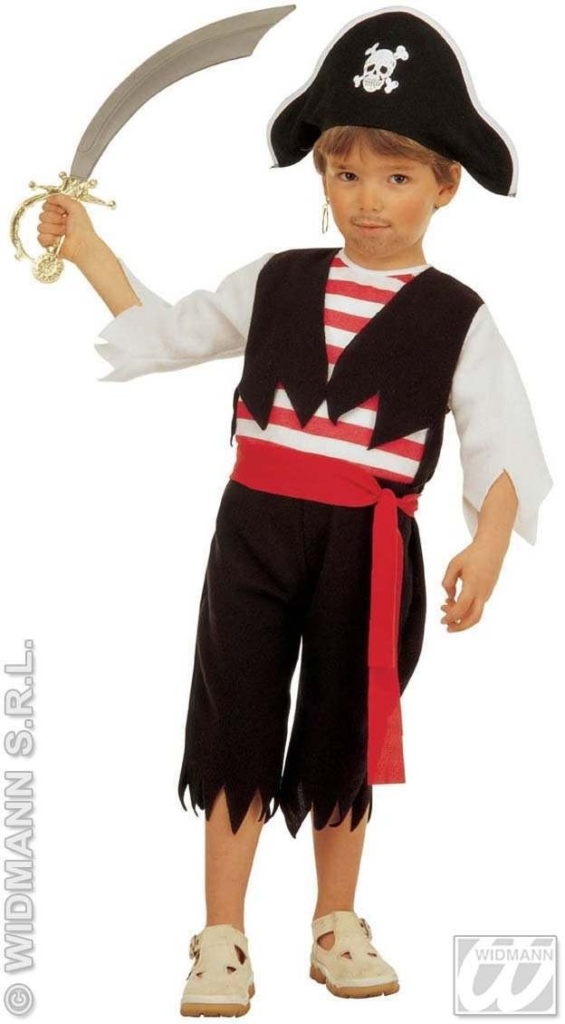 Little Pirate Costume Toddler 4-5 Fancy Dress Costume (Pirates)