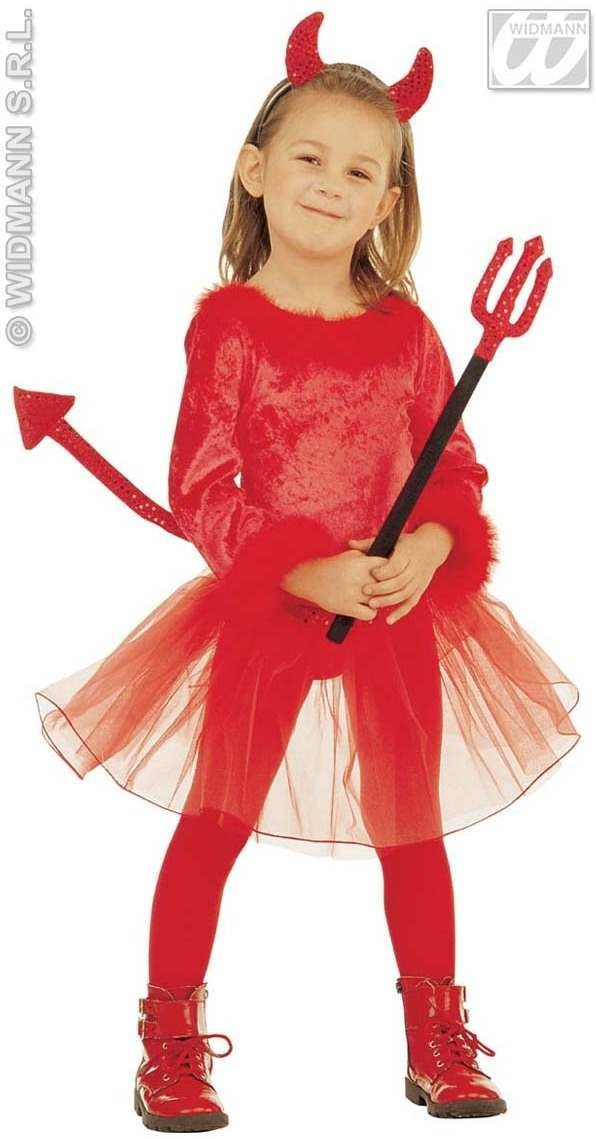 Little Devil Girl Costume 3-4 Fancy Dress Costume Girls (Halloween)