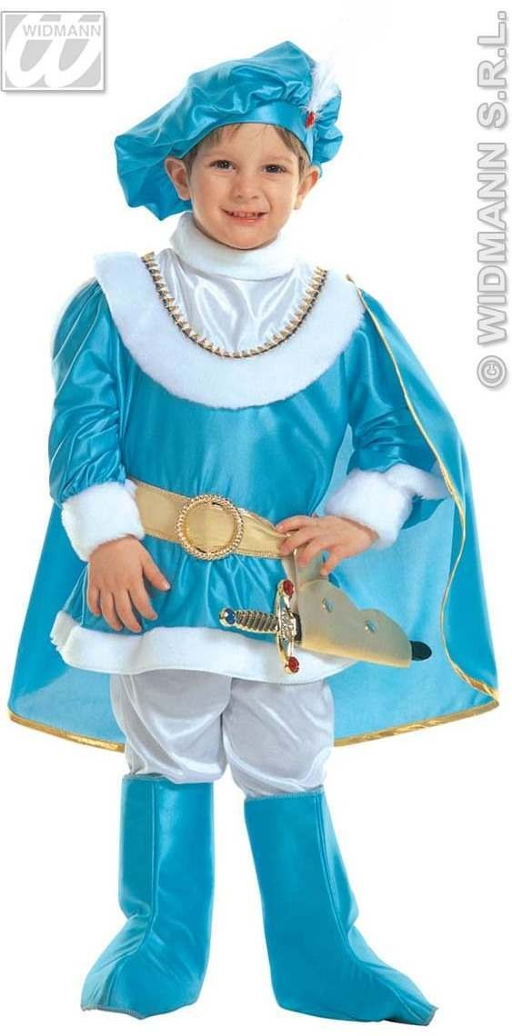 Little Blue Prince Costume Child 4-5 Costume Boys (Royalty)