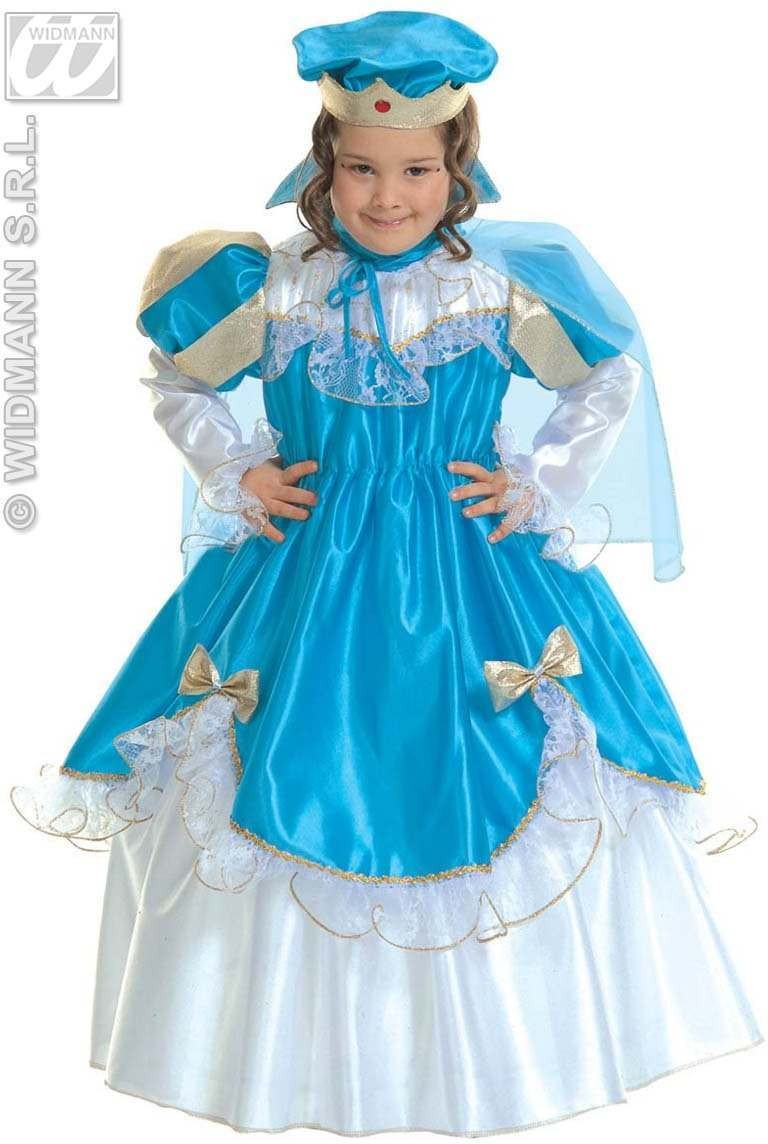 Little Blue Princess Fancy Dress Girls (Royalty)