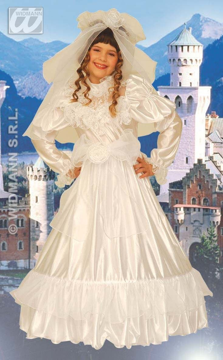 Glamour Michelle Costume Child White 4-5 Costume Girls
