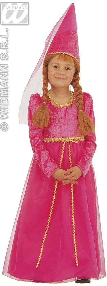 Little Castle Maid - Dress, Hat With Veil Fancy Dress (Fairy Tales)