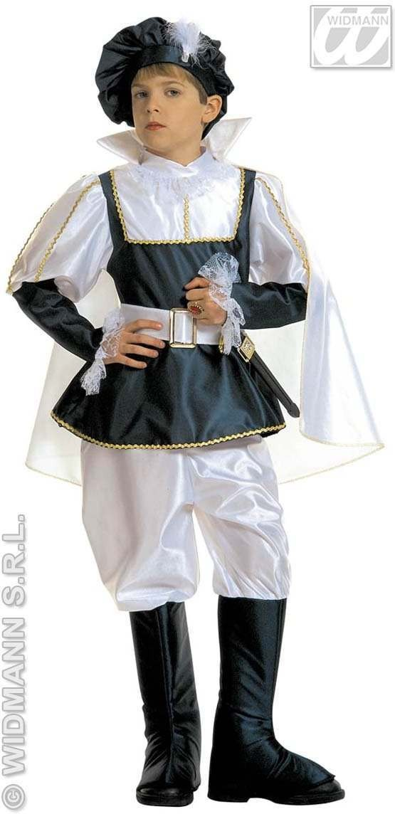 Royal Prince Child Costume Blk/White Costume Boys (Royalty)