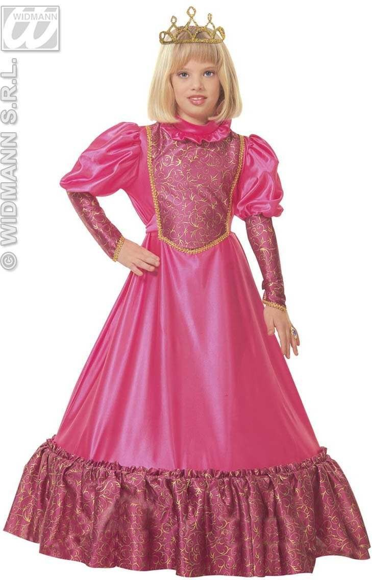 Medieval Princess With Dress W/Wire Hoop, Crown Costume (Royalty)