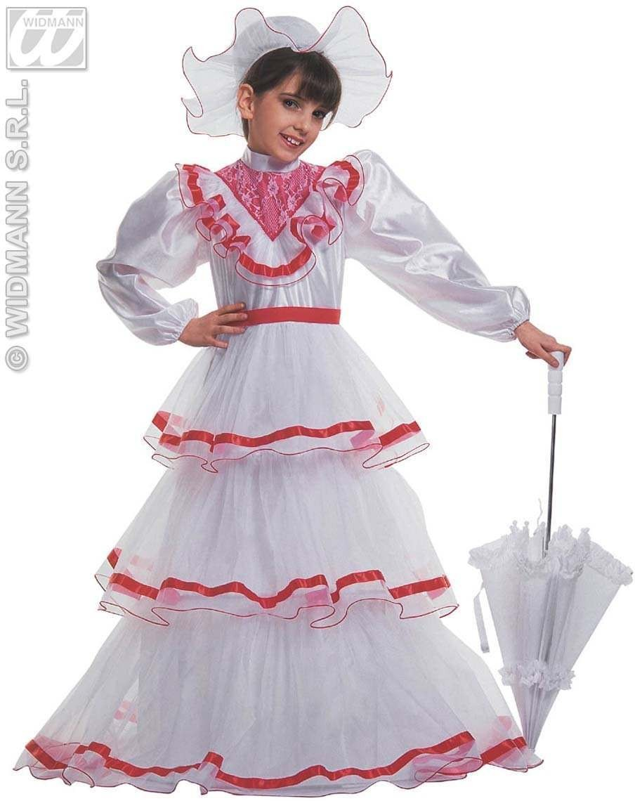 Rossella With Dress With Wire Hoop, Hat Fancy Dress (Cultures)