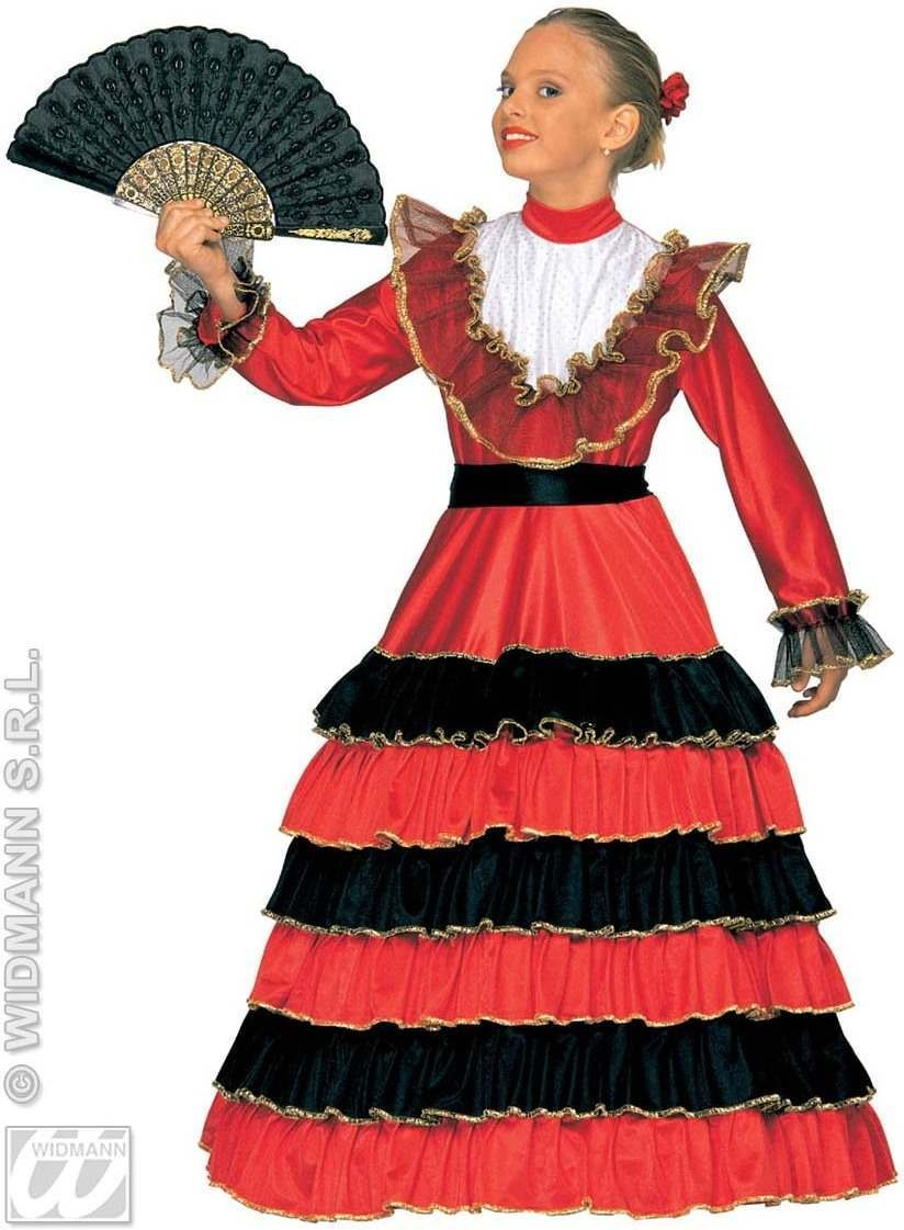 Senorita With Dress W/Wire Hoop And Belt Fancy Dress (Spanish)