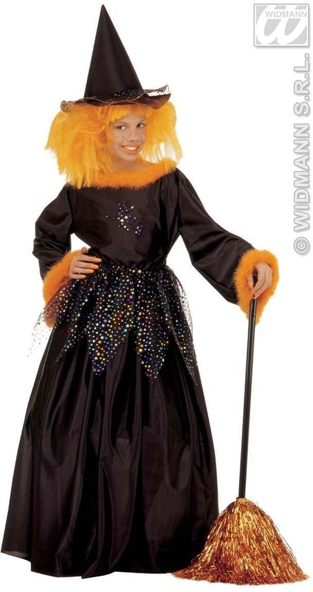 Fancy Witch Costume Child Orange 5-7 Costume Girls (Halloween)