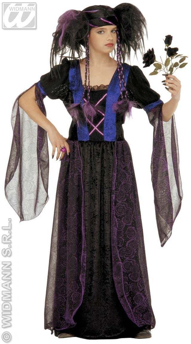Gothic Princess Costume Child Fancy Dress Costume Girls (Halloween)