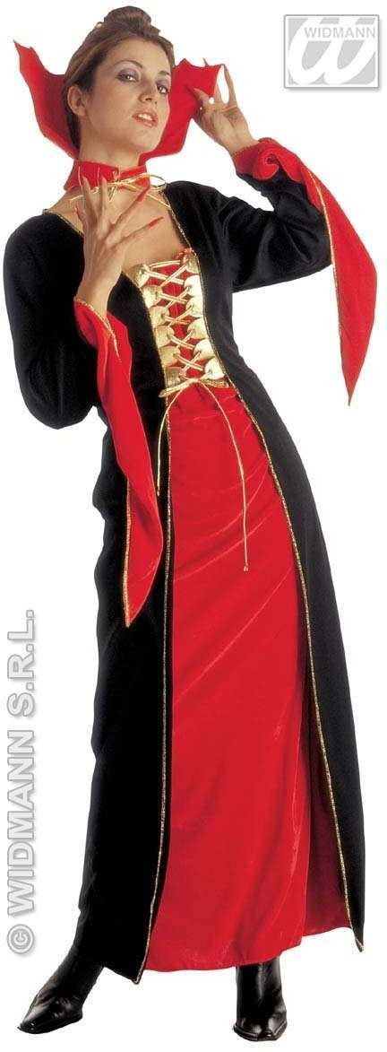 Gothic Lady Adult Fancy Dress Costume Ladies (Halloween)