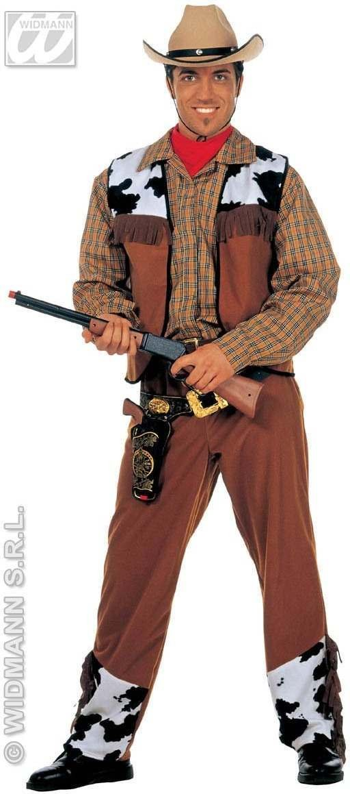 Western Cowboy Adult Fancy Dress Costume Mens (Cowboys/Indians)