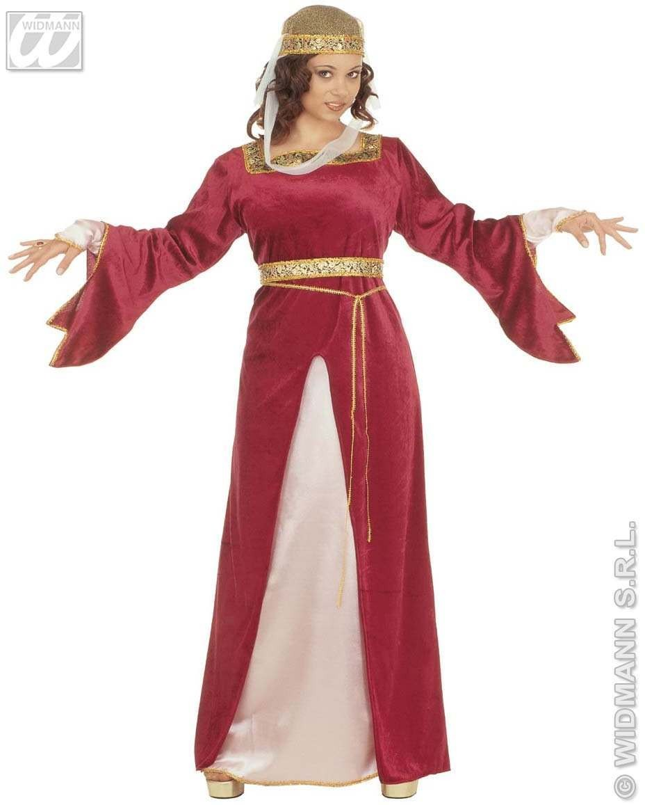 Court Milady Velvet Fancy Dress Costume Ladies (Medieval)
