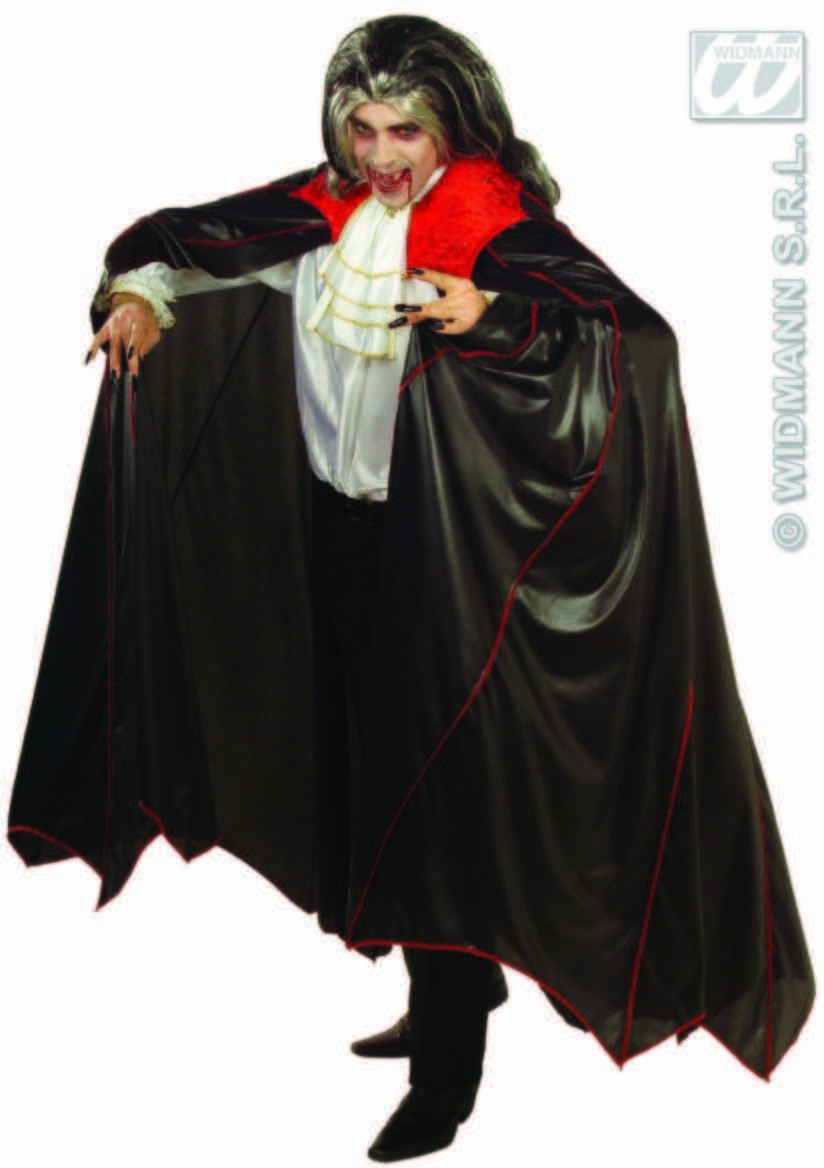 Deluxe Vampire Cape & Collar & Red Trim Costume (Halloween)