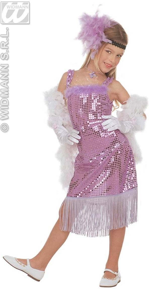 Glamour Marilyn Pink Costume Child 5-7 Costume Girls (1920S)