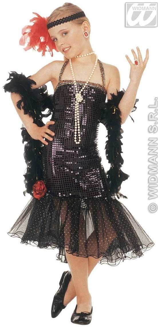 Glamour Claudia Sequin Dress Fancy Dress Costume (1920S)