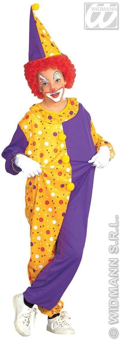 Dotted Clown With Jumpsuit And Hat Fancy Dress Costume (Clowns)