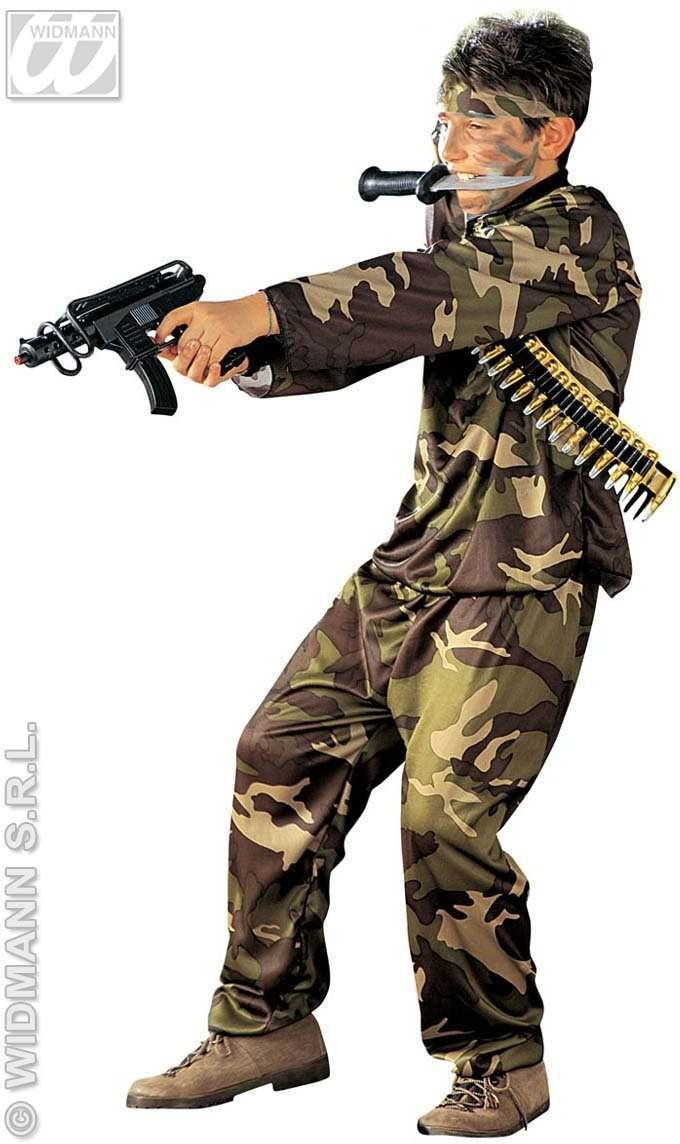 Special Force Costume Child Fancy Dress Costume (Army)