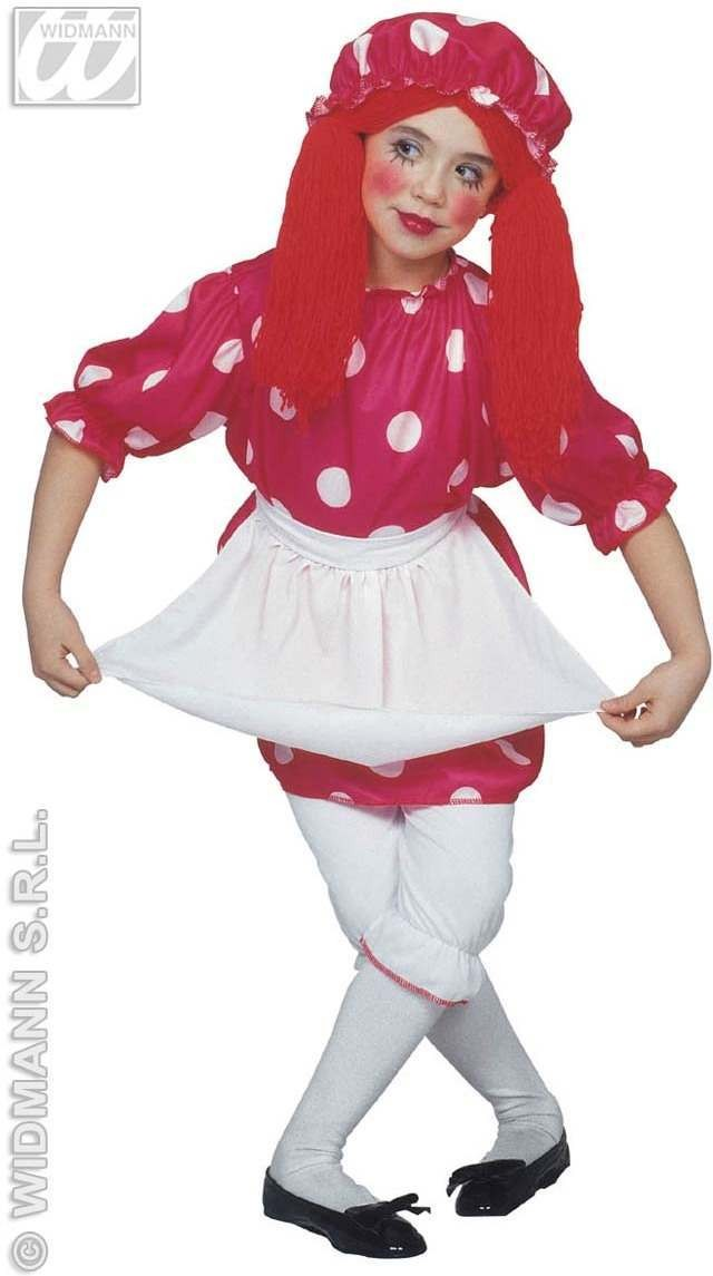 Rag Doll With Dress, Pantaloons, Apron, Fancy Dress